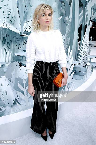 Actress Cecile Cassel attends the Chanel show as part of Paris Fashion Week Haute Couture Spring/Summer 2015 on January 27 2015 in Paris France