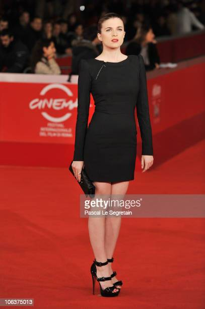 Actress Cecile Cassel attends the 'Leila' premiere during The 5th International Rome Film Festival at Auditorium Parco Della Musica on October 30...