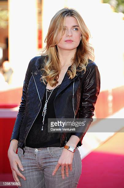 Actress Cecile Cassel attends the 'Leila' Premiere during the 5th International Rome Film Festival at Auditorium Parco Della Musica on October 28...
