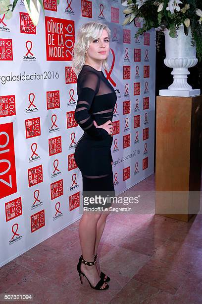 Actress Cecile Cassel attends the Sidaction Gala Dinner 2016 as part of Paris Fashion Week Held at Pavillon d'Armenonville on January 28 2016 in...