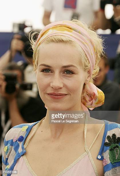 Actress Cecile De France attend the ''Quand J'etais Chanteur' photocall during the 59th International Cannes Film Festival May 26 2006 in Cannes...