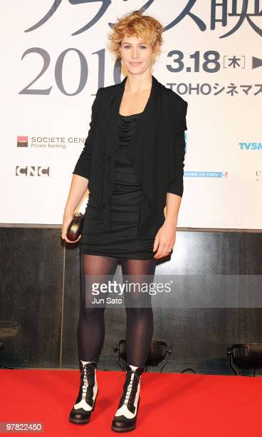 Actress Cecile De France attends the France Film Festival 2010 Opening Ceremony at Roppongi Hills on March 18 2010 in Tokyo Japan