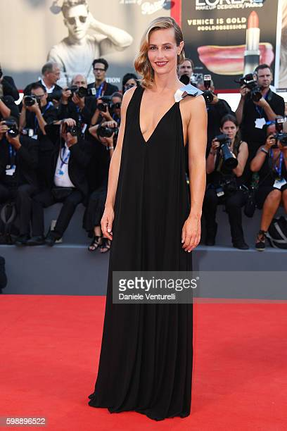 Actress Cecile de France attends the premiere of 'The Young Pope' during the 73rd Venice Film Festival at on September 3, 2016 in Venice, Italy.