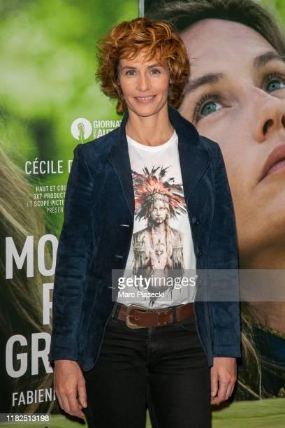 Actress Cecile de France attends the Un Monde Plus Grand premiere At UGC Les Halles on October 21 2019 in Paris France