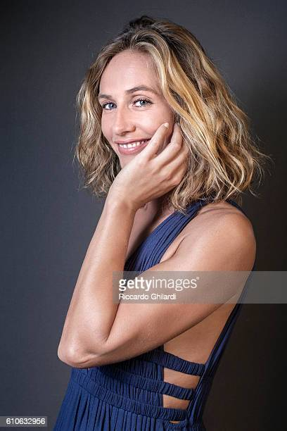 Actress Cecile de France is photographed for Self Assignment on September 4 2016 in Venice Italy