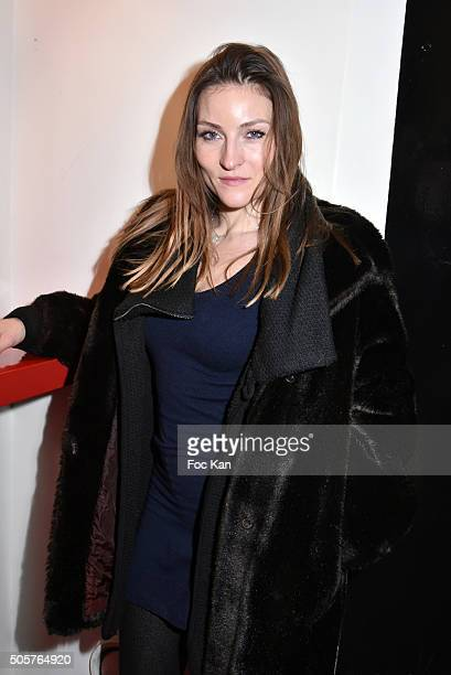 Actress Cecile Grisart attends the 'Polish Hope' Short Movie Screening Party at Cinema Grand Action on January 19 2016 in Paris France