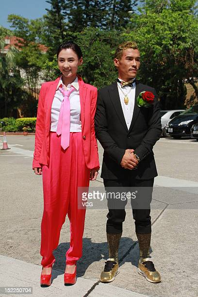 Actress Cecilia Cheung attends the wedding ceremony of her younger brother Cheung Holung on September 17 2012 in Hong Kong