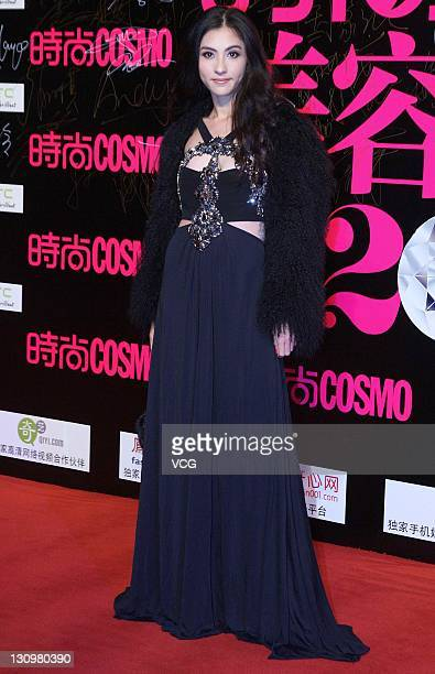 Actress Cecilia Cheung attends Trends Cosmo Beauty Awards 2011 at Shanghai Centre Theatre on October 28 2011 in Shanghai China