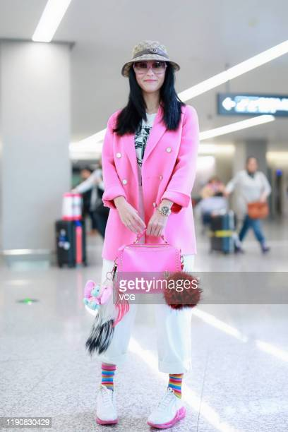 Actress Cecilia Cheung Pakchi is seen at an airport on November 29 2019 in Shanghai China