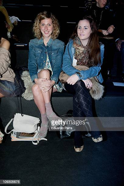 Actress Cecilia Freire attends the Aianto fashion show during the Cibeles Madrid Fashion Week A/W 2011 at Ifema on February 20 2011 in Madrid Spain