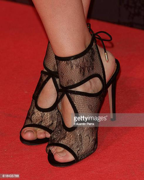 Actress Cecilia Freire shoes detail attends the 'Que Dios nos perdone' photocall at Capitol cinema on October 26 2016 in Madrid Spain