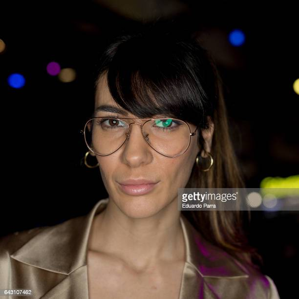 Actress Cecilia Gessa attends the kissing room of The 2nd Skin Co show during Mercedes Benz Fashion Week Madrid Autumn / Winter 2017 at Ifema on...