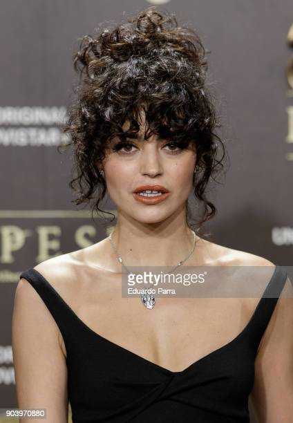 Actress Cecilia Gomez attends the 'La peste' premiere at Callao cinema on January 11 2018 in Madrid Spain