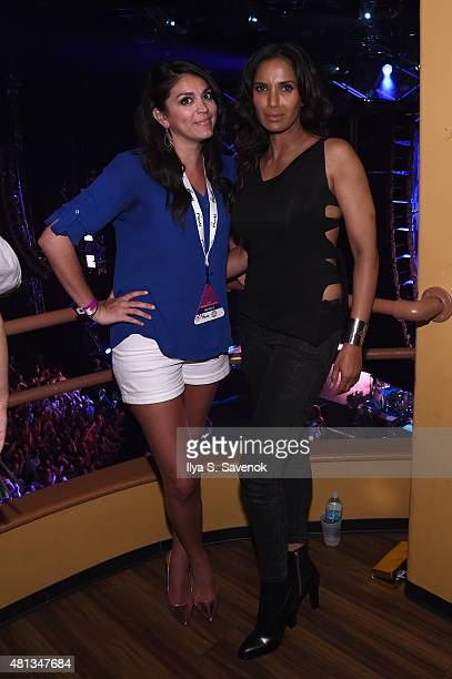 Actress Cecily Strong and Padma Lakshmi attend a oneofakind concert experience in New York City PlentiTogether LIVE bringing to life the better...