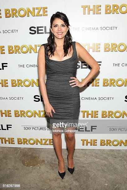Actress Cecily Strong attends The Cinema Society SELF host a screening of Sony Pictures Classics' The Bronze at Metrograph on March 17 2016 in New...