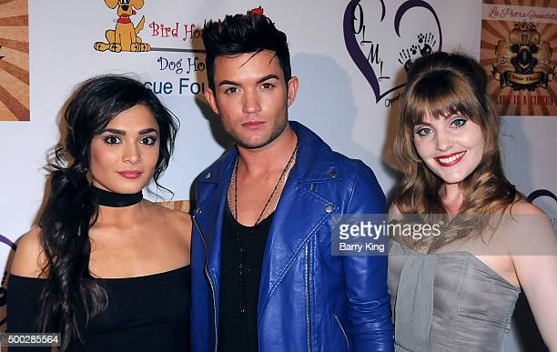 Actress Celesta De Astis actor/singer Chris Trousdale and actress Tallay Wickham attend Fundraising Event To Save Circus Animals Of Mexico Honoring...