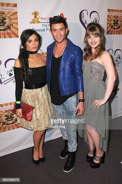 Actress Celesta DeAstis actor/singer Chris Trousdale and actress Tallay Wickham attend Fundraising Event To Save Circus Animals Of Mexico Honoring...