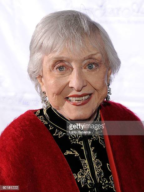Actress Celeste Holm attends the 2009 Princess Grace Awards Gala at Cipriani 42nd Street on October 21 2009 in New York City