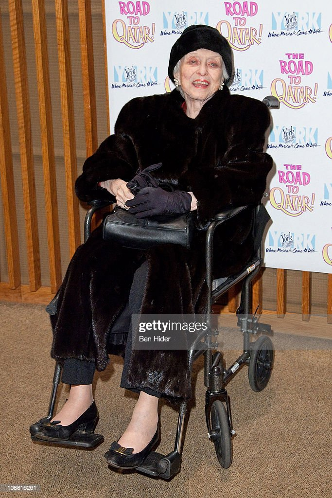 Actress Celeste Holm attends the Off-Broadway opening night of 'The Road to Qatar' at The York Theatre at Saint Peter's on February 3, 2011 in New York City.