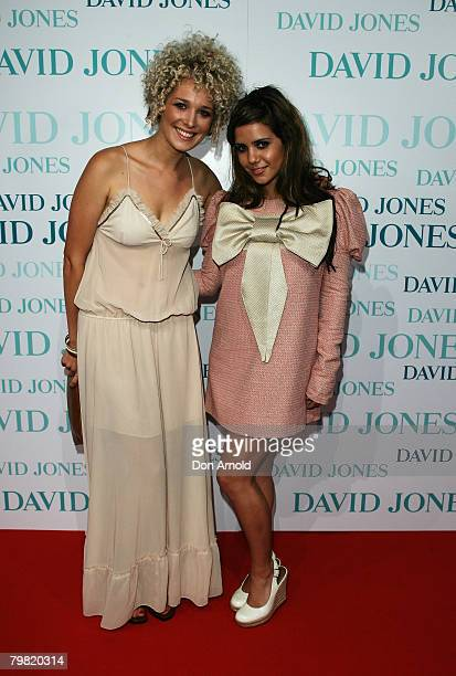 Actress Celeste Tesoriero and friend arrive at the David Jones Winter 2008 Collection Launch A Japanese Story at the Royal Hall of Industries Moore...