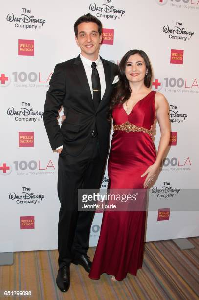 """Actress Celeste Thorson and guest attend the American Red Cross Centennial Celebration to Honor Disney as the """"Humanitarian Company of The Year"""" at..."""