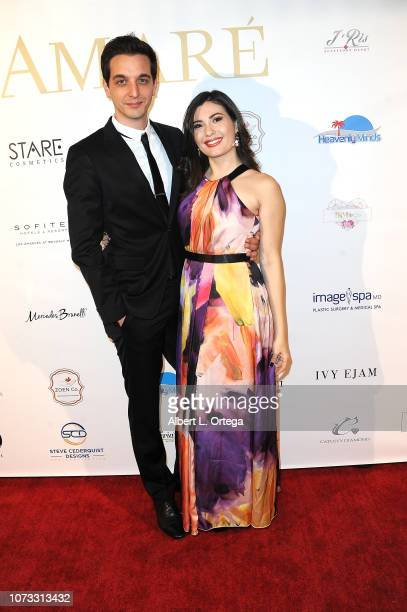 Actress Celeste Thorson and husband Nicola Geretti attend the Amare's Second Year Anniversary 'Believe Issue' Party held at Sofitel Los Angeles At...