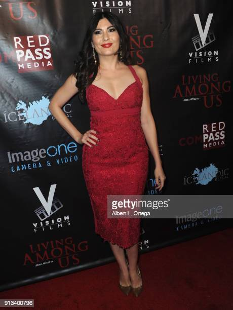 Actress Celeste Thorson arrives for the premiere of Living Among Us held at Ahrya Fine Arts Theater on February 1 2018 in Beverly Hills California