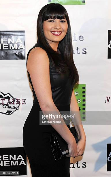 Actress Celeste Thorson arrives for the Screening Of 'Pretty Rosebud' at Arena Cinema Hollywood on January 16 2015 in Hollywood California