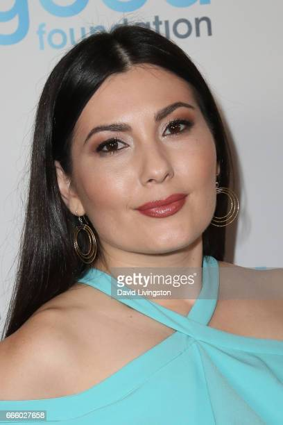 Actress Celeste Thorson attends the 4th annual unite4humanity Gala at the Beverly Wilshire Four Seasons Hotel on April 7 2017 in Beverly Hills...
