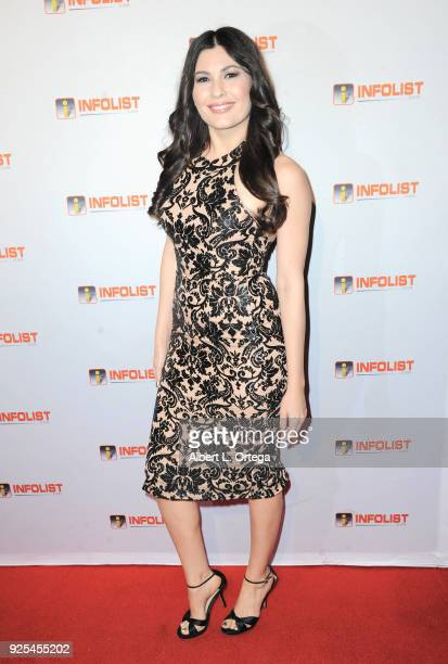 Actress Celeste Thorson attends the INFOListcom's PreOscar Soiree and Jeff Gund Birthday Party held at Mondrian Sky Bar on February 27 2018 in West...