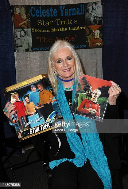Actress Celeste Yarnall attends the 1st Annual PopCon LA Pop Culture Convention held at Los Angeles Convention Center on July 8 2012 in Los Angeles...