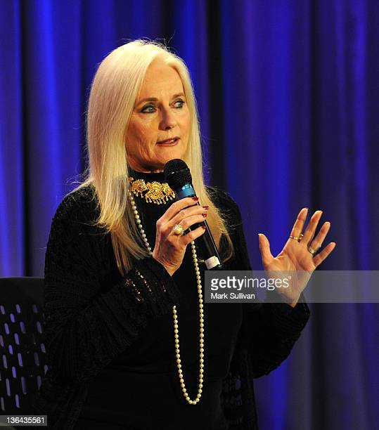 Actress Celeste Yarnall onstage during Elvis At The Movies at The GRAMMY Museum on January 4 2012 in Los Angeles California