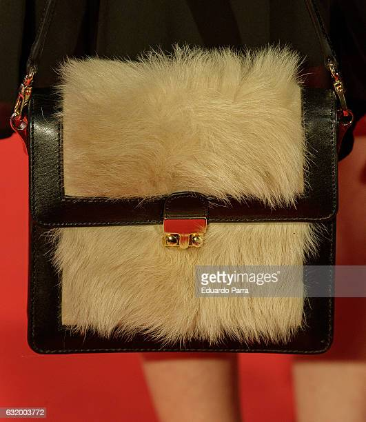 Actress Celia de Molina bag detail attends 'Los del Tunel' premiere at Capitol cinema on January 18 2017 in Madrid Spain