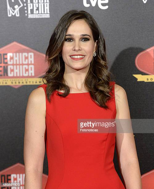Actress Celia Freijeiro attends the 'De Chica en Chica' Premiere at Palafox Cinema on September 24, 2015 in Madrid, Spain.
