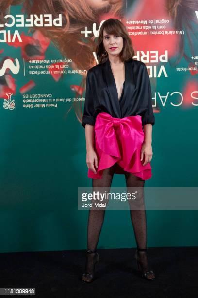 Actress Celia Freijeiro attends the premiere of 'Vida Perfecta' at Cinema Phenomena on October 15, 2019 in Barcelona, Spain.