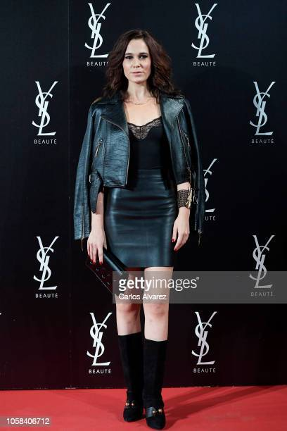 Actress Celia Freijeiro attends 'YSL Beaute THE SLIM Rouge PurCouture' party at the Santona Palace on November 6 2018 in Madrid Spain