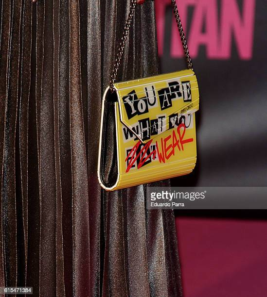 Actress Celia Freijeiro bag detail attends the 'Cosmopolitan Fun Fearless Female' awards 2016 at La Riviera Disco on October 18 2016 in Madrid Spain