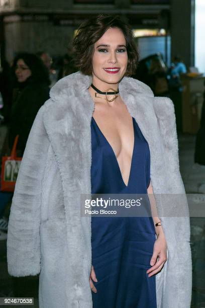 Actress Celia Freijeiro is seen arriving to the 'Fotogramas de Plata' awards at the Joy Eslava Club on February 26 2018 in Madrid Spain
