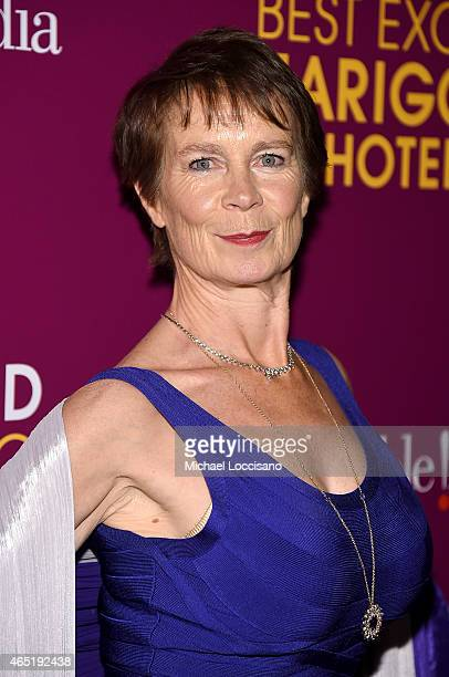 Actress Celia Imrie Attends The Second Best Exotic Marigold Hotel New York Premiere At