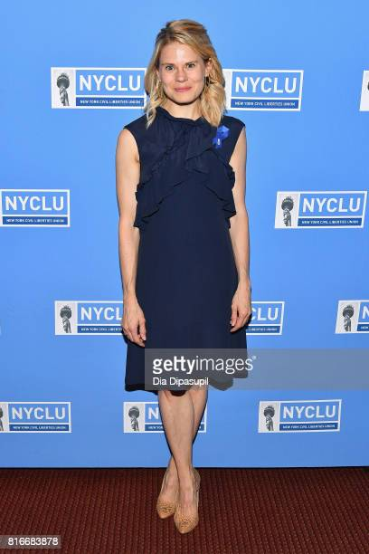 Actress Celia KeenanBolger attends the annual Broadway Stands Up For Freedom concert hosted by the NYCLU at Jack H Skirball Center for the Performing...