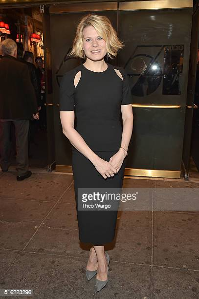 Actress Celia KeenanBolger attends the opening night of She Loves Me on Broadway at Studio 54 on March 17 2016 in New York City