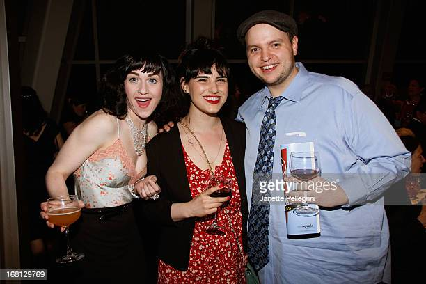 Actress Celina Carvajal actor Daniel Everidge and actress Molly Hager attend the 28th Annual Lucille Lortel Awards on May 5 2013 in New York City