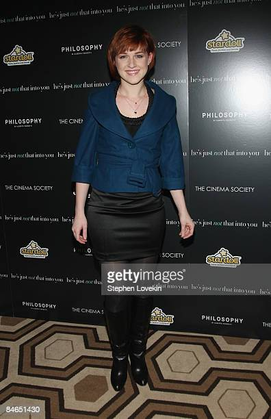 Actress Celina Carvajal attends the Cinema Society Philosophy and Stardoll screening of He's Just Not That Into You at the Tribeca Grand Screening...