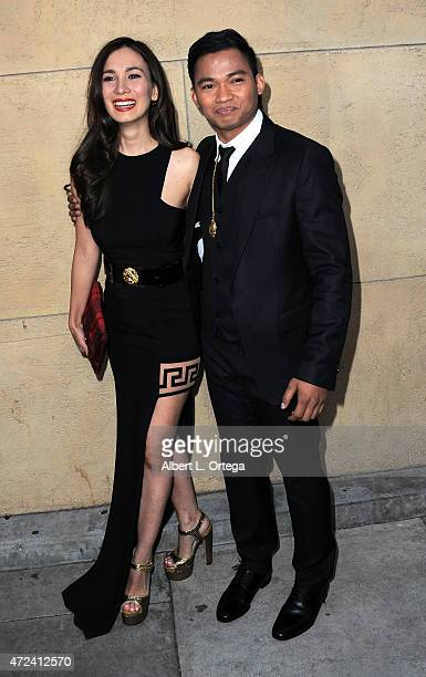 Actress Celina Jade and actor Tony Jaa arrive for the premiere Of 'Skin Trade' held at the Egyptian Theatre on May 6 2015 in Hollywood California