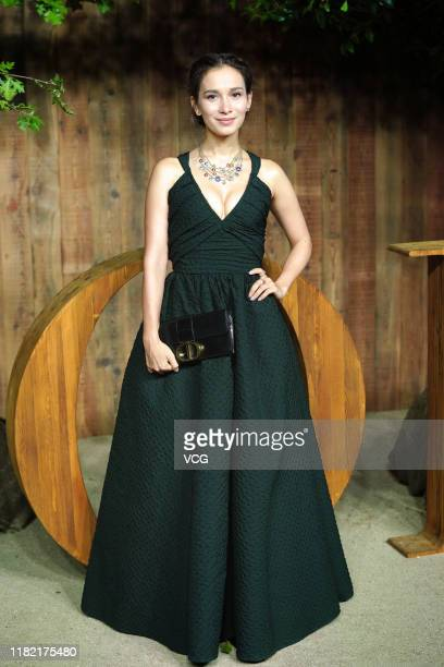 Actress Celina Jade attends Dior Fashion Show on October 19, 2019 in Shanghai, China.