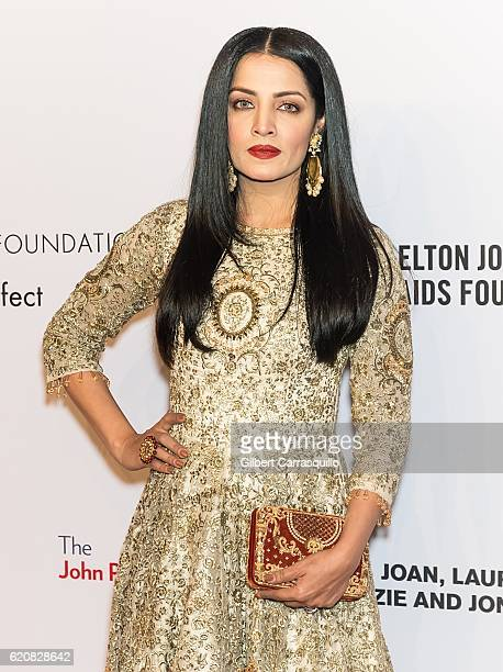 Actress Celina Jaitley attends the 15th Annual Elton John AIDS Foundation An Enduring Vision Benefit at Cipriani Wall Street on November 2 2016 in...