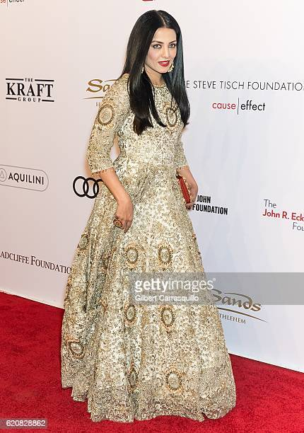 Actress Celina Jaitly attends the15th Annual Elton John AIDS Foundation An Enduring Vision Benefit at Cipriani Wall Street on November 2 2016 in New...