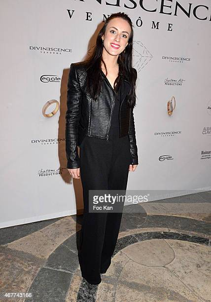 Actress Celine Berti attends the 'Diamond Night by Divinescence Vendome' Harumi Klossowska Jewellery Exhibition Preview As Part Of Art Paris Art Fair...