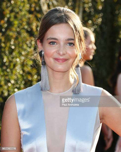 Actress Celine Buckens attends the 45th Annual Daytime Creative Arts Emmy Awards at the Pasadena Civic Auditorium on April 27 2018 in Pasadena...
