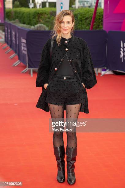 """Actress Celine Sallette attends the """"ADN"""" Premiere at the 46th Deauville American Film Festival on September 11, 2020 in Deauville, France."""